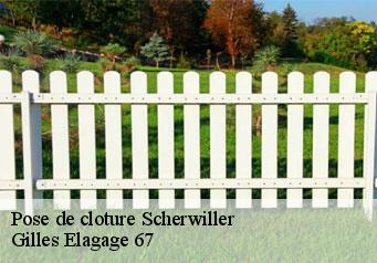 Pose de cloture  scherwiller-67750 Gilles Elagage 67